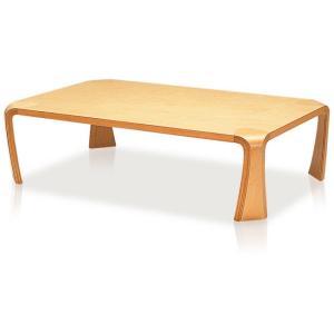 天童木工 座卓(ローテーブル) デザイン 乾 三郎 S-0228MP-NT メープル生地色 甲板・脚/メープル杢目|furniture-direct