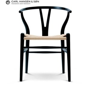 CH24 Yチェア ビーチ材 カラー塗装(ブラック) ナチュラルペーパーコード Beech Black Natural Papercord|furniture-direct