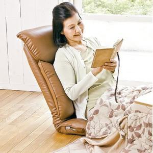 高座椅子 スーパーソフトレザー 座椅子 彩 レバー式13段 リクライニング 日本製 完成品|furniture-direct