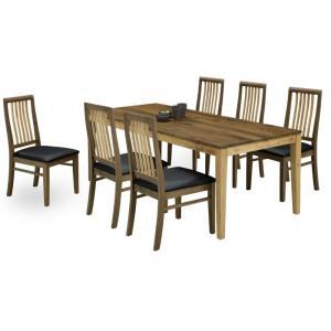 ダイニング テーブル セット 7点 特大 180×85 ウォールナット&オーク GLOVER|furniture-hayamizu
