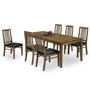 ダイニング テーブル セット 7点 大型 180×85 ウォールナット GLOVER|furniture-hayamizu
