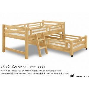 親子2段ベッド ペアベッド HAPPINESS-passion-flat