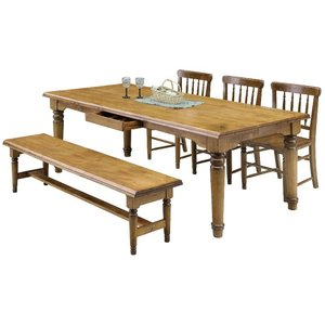 ダイニング テーブル 5点セット 大型 200×100 ベンチタイプ 引出し付き JODAN  |furniture-hayamizu