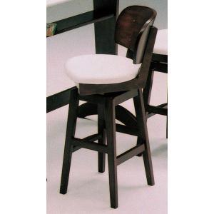 カウンターチェアー 回転式 ホワイト&ダークブラウン savaSG|furniture-hayamizu