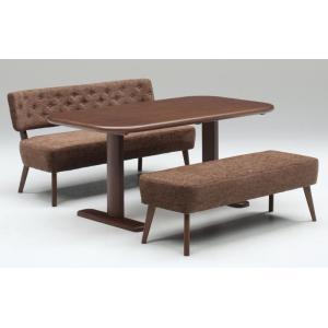 ダイニング テーブル セット 3点 150×80 大型 ソファタイプ ベンチ TM150|furniture-hayamizu