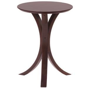 サイドテーブル 丸 40Φ ブラウン NET-410 |furniture-hayamizu