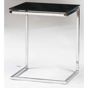 サイドテーブル ガラス ブラック PT-15BK |furniture-hayamizu