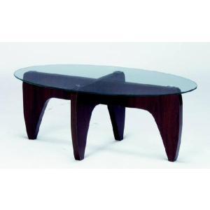 センターテーブル ガラス 2WAY 楕円テーブル GGH-361|furniture-hayamizu