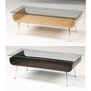 センターテーブル ガラス 96×45 曲木 NET-301 |furniture-hayamizu