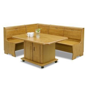リビング ダイニング テーブル 4点セット 130×85 収納付き ベンチタイプ STAGE|furniture-hayamizu