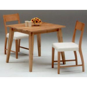 ダイニング テーブル 3点セット 80 ALBERO-pvc |furniture-hayamizu