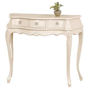 90 コンソールテーブル  ko-mo アンティーク調 ヨーロピアンテイスト家具 [ホワイト/ブラウン] furniture-hayamizu