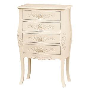 55 チェスト  引き出し4杯   アンティーク調 ヨーロピアンテイスト家具 [ホワイト/ブラウン] furniture-hayamizu