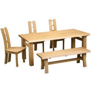 ダイニング テーブル セット 5点 大型 200×90 ベンチタイプ EVERY-type1|furniture-hayamizu