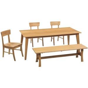 ダイニング テーブル セット 5点 大型 180×85 ベンチタイプ SHESTA|furniture-hayamizu