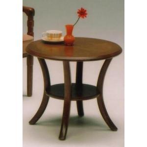 センターテーブル 円形 60Φ 丸型 ブラウン   サリブ|furniture-hayamizu