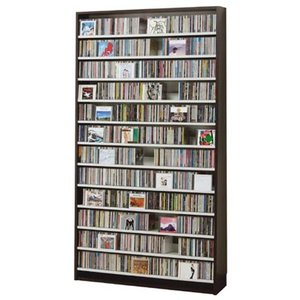 CDストッカー CS1284 ダーク CD1284枚収納 (CDとDVDの収納家具)|furniture