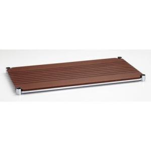 ホームエレクター ブランチシェルフ H1430BB1 間口750mm × 奥行350mm  ダークブラウン (1枚入)|furniture