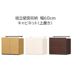 リビング壁面収納組立家具  上置き 幅60cm  高さ55(55〜65)cmの写真
