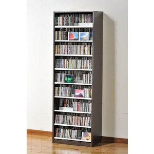 タンデム CDストッカー TCS590D ウォールナットダーク CD963枚収納 (CDとDVDの収納家具)|furniture