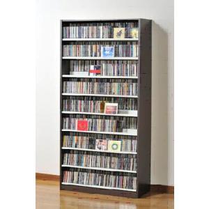 タンデム CDストッカー TCS890D ウォールナットダーク CD1503枚収納 (CDとDVDの収納家具)|furniture