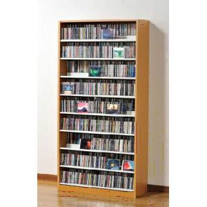 タンデム CDストッカー TCS890N ナチュラル CD1503枚収納 (CDとDVDの収納家具)|furniture