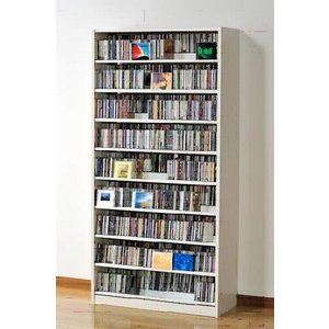 タンデム CDストッカー TCS890W ホワイト CD1503枚収納 (CDとDVDの収納家具)|furniture