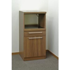フナモコ コンパクト レンジ台 WD-15 リアルウォールナット 幅48cm|furniture