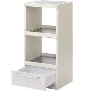 フナモコ コンパクト レンジ台 WW-17 スーパーホワイト 幅48cm|furniture