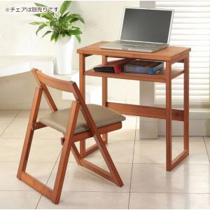 日本製天然木デスク幅60cm ハイデスク デスク 机 パソコン デスク 机 PC 学習 オフィス 書斎 つくえ desk パソコンラック 1人暮らしの写真