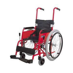 アルミ自走車いす 子供用 KAC-N32  / フレームレッド 1台