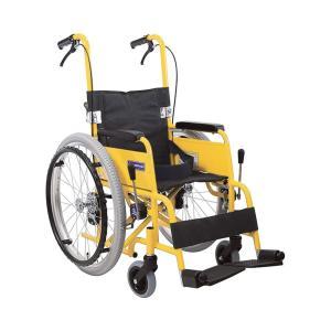 アルミ自走車いす 子供用 KAC-NB32  / フレームイエロー 1台