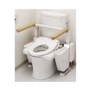 排泄関連 昇降便座 ・便座が電動で昇降し、立ち座りをサポートします。・はね上げ式で介助スペースも確保...