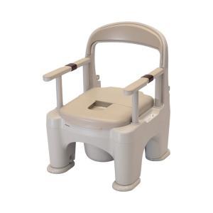 ポータブルトイレ <座楽>ラフィーネ / PN-L30200BE 標準タイプ(プラスチック便座) ベージュ 1台|furnitures
