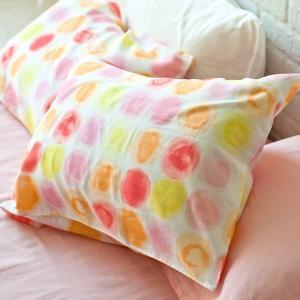 枕カバー アクアドット 43×63cm M 綿100% ガーゼ|furnitureworld