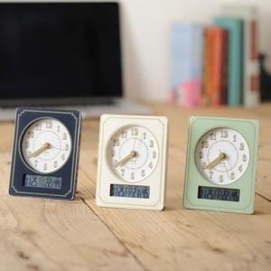 時計「BRUNO(ブルーノ)」電波カレンダー温湿クロック【置...