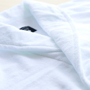 ホテル仕様 今治タオルの白いバスローブ BATHLIER Robe 【バスローブ 今治タオル 今治 レディース メンズ ホワイト ママ マタニティ bathrobe タオル地 吸水】|furo|02