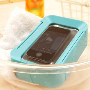 iPod・iPhone対応/防滴スピーカー「アクアタッチ」ブルー【お風呂スピーカー バススピーカー 防滴ケース iPhone5ケース スピーカー MP3プレイヤー】|furo