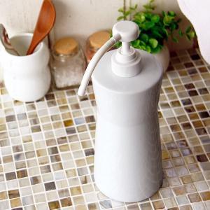 キッチンポンプ「ホワイトガーデン」【洗剤ボトル 洗剤入れ 洗剤ディスペンサー ソープボトル ソープポンプ 詰め替え用 詰め替えボトル 詰替えボトル】|furo