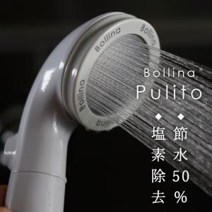 マイクロバブル シャワーヘッド「Bollina Pulito(ボリーナプリート)」 塩素除去 カートリッジ付き 浄水シャワーヘッド