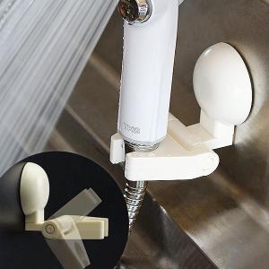 超強力吸盤シャワーフック「マジックロック」シャワーホルダー(ホワイト)【吸盤 角度調整 タイル・ザラザラ壁 強力 シャワーヘッド掛け】 furo