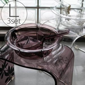 バスチェアL&洗面器&手桶「SARINA2(サリナ2)」3点セット【送料無料 バスチェア アクリル セット おしゃれ】 furo