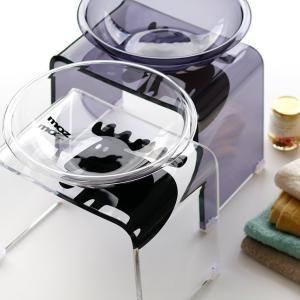 【送料無料】バスチェアセット「moz(モズ)」バスチェア&洗面器(2点セット)【アクリル バスチェア セット 北欧 おしゃれ バスチェアー 風呂椅子 MOZ】|furo