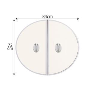 送料無料 東プレ 五右衛門風呂用 丸ふた 小判中 72cm×84cm|furofuta-manzoku
