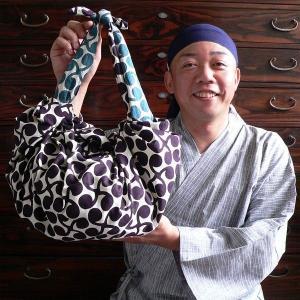 京都ふろしき倶楽部で御購入の風呂敷をバッグにしてお届けします 無料 風呂敷サイズ68cm以上対象 75cmまでの風呂敷はメール便発送可|furoshikiclub|05