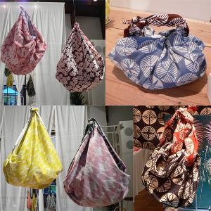 風呂敷 大判 104cm 伊砂文様両面染め 綿シャンタンふろしき 日本製 風呂敷バッグ