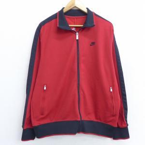 XL/古着 長袖 ジャージ ナイキ NIKE ワンポイントロゴ 大きいサイズ 赤 レッド 21apr...