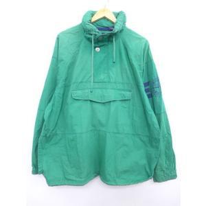 XL/古着 アノラック ジャケット ギャップ GAP 大きいサイズ 袖ライン 緑 グリーン 【spe...