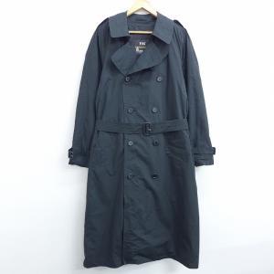 XL/古着 長袖 トレンチ コート ロンドンフォグ ラグラン ロング丈 黒 ブラック 20dec08...