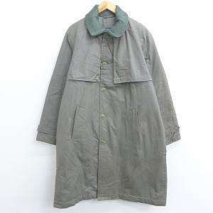 XL/古着 長袖 コート ロング丈 グレー系 21jan14 中古 メンズ アウター